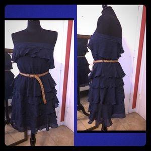 Layered Navy Blue Dress!
